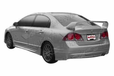 VIS Racing - 2006-2011 Honda Civic 4Dr Techno R 2 Rear Spoiler - Image 1
