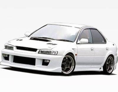 VIS Racing - 1993-2001 Subaru Impreza 4Dr Z Speed  Side Skirt - Image 2