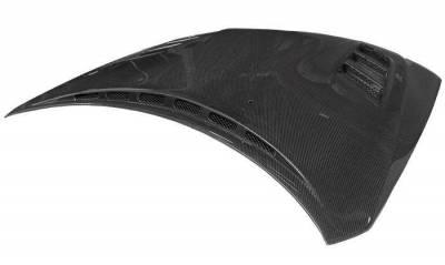 VIS Racing - Carbon Fiber Hood VS2 Style for Subaru WRX Hatchback & 4DR 08-14 - Image 2