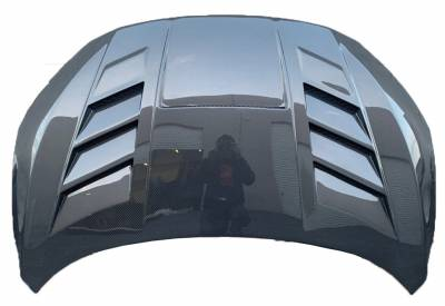 VIS Racing - Carbon Fiber Hood VS 2 Style for Honda Civic 2 & 4DR 2016-2019 - Image 2