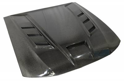 VIS Racing - Carbon Fiber Hood Terminator Style for 1999-2004 Ford Mustang - Image 1