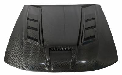 VIS Racing - Carbon Fiber Hood Terminator Style for 1999-2004 Ford Mustang - Image 2