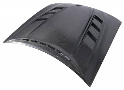 VIS Racing - Carbon Fiber Hood Terminator Style for 1999-2004 Ford Mustang - Image 3